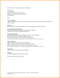 Template For Resume For High School Student Free Resume Example