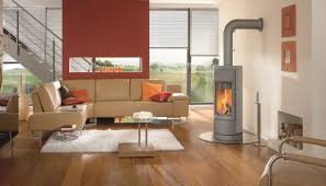 Wood Stove Living Room Design Contemporary Wood