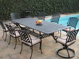 metal patio furniture for sale. Amazon.com : Cast Aluminum Outdoor Patio Furniture 9 Piece Extension Dining Table Set With 2 Swivel Rockers KL09KLSS260112T And Metal For Sale P