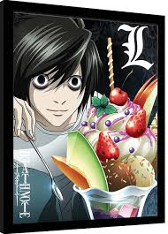 The anime you love for free and in hd. Death Note L Ice Cream Framed Poster Buy At Abposters Com