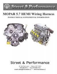 mopar 5 7 hemi wiring harness street & performance 6.1 hemi wiring harness Hemi Wiring Harness #29