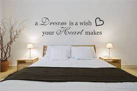 Bedroom Wall Quotes Extraordinary Wall Decal Bedroom Quote Sticker A Dream Is A Wish Your Heart Makes