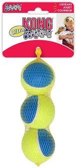 <b>KONG игрушка</b> для собак <b>Ultra</b> Squeak мячик средний 3 шт. в уп. 6 ...