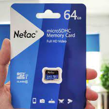 Thẻ Nhớ Netac 64Gb Class 10 Chuyên Camera Và Điện Thoại Dung Lượng Thật  Class 10- Bảo Hành 12 Tháng