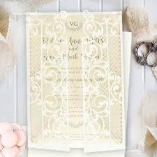 wedding invitation bands new set diy 50 100 laser cut invitations gatefold belly band cream of