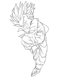 Dragon Ball Super Saiyan Coloring Page H M Coloring Pages