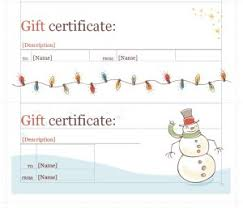 holiday template word holiday gift certificate template certificate templates
