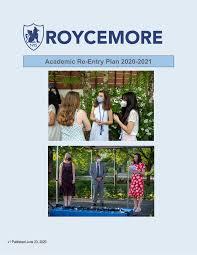 Academic Re-Entry Plan 2020-2021