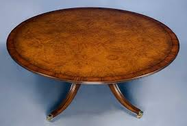 burl walnut 6ft round dining table