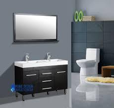 alya 48 modern double sink bathroom vanity black cabinet mirror set