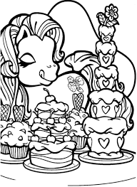 My Little Pony Love Cake Coloring