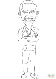Small Picture Smiling Barack Obama coloring page Free Printable Coloring Pages