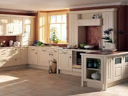Rectangle Shape Brown Wooden Table Contemporary Cottage Kitchens Dark Nook  White Storage Cabinet Ceramic Tiles Backsplash ...