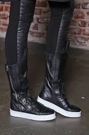 womens boots black leather boots gothic boots lace up boots black platform