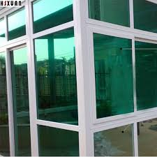 office glass door. One Way Mirror Decorative Clear Window Film 50x100cm Green Solar Reflective 99% UV Office Glass Door L