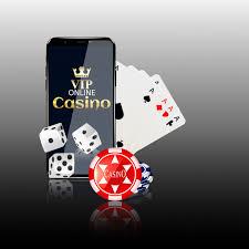 Premium Vector   Online mobile casino background.