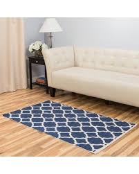 2x3 ft blue geometric area rug