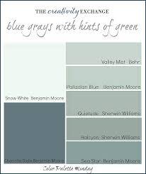 grey blue paint colorsReaders Favorite Paint Colors Color Palette Monday