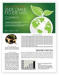 Newletter Formats Environmental Newsletter Templates In Microsoft Word Adobe