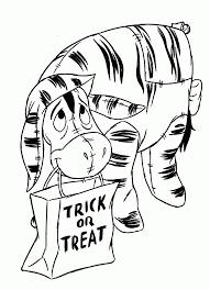 Coloring Page Halloween Winnie De Pooh