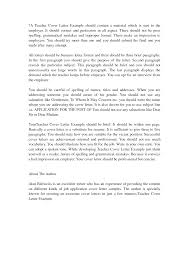 Popular Sample Cover Letters For Teachers With Experience 95 In