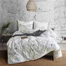 black and white leaf pattern polyester bedding set 2 bed linings duvet cover pillowcases cover set usa twin queen king size comforter king blue duvet sets