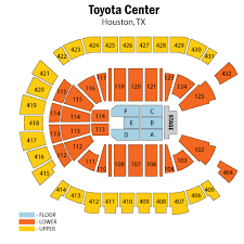 Toyota Center Houston Tickets Schedule Seating Chart
