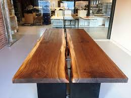 image of live edge conference table diy