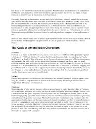 the cask of amontillado notes  the cask of amontillado summary 5 6 him