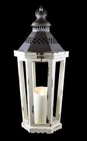 16 antique white lantern with luminara flameless led lighted gki bethlehem light