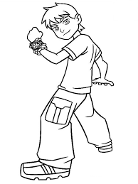 Small Picture Free Printable Ben 10 Coloring Pages For Kids