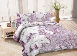 purple duvet cover ancient europe map bedding sets custom made bed sheets queen full twin bedroom set for all sizes