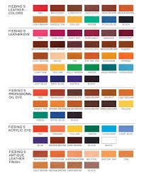 Fiebings Suede Dye Color Chart Fiebing Leather Dye Color Chart Leather Furniture Leather