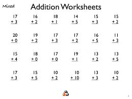 Math Worksheets Addition Worksheet Printable Free Educational And ...