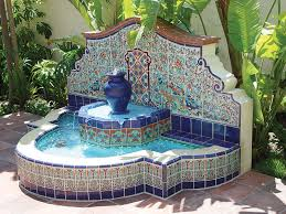 spanish style outdoor fountains designs