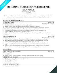 Sample Resume For Maintenance Technician Sample Resume For ...