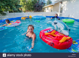 Backyard Swimming Pool Kids Backyard Swimming Pool Stock Photos Kids Backyard Swimming