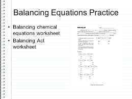 balancing act worksheet together with balancing equations practice balancing chemical equations worksheet balancing act worksheet inspiring