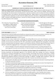 Professional Business Resume Examples Resume Sample 6 Controller Chief Accounting Officer
