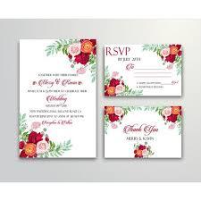Wedding Invitation Set Templates Floral Wedding Invitation Set Template For Free Download On Pngtree
