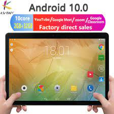 Newest 10.1 inch Tablet Android 10.0 Octa Core Google Play ZOOM 3G 4G LTE  Phone Call Dual SIM Cards WiFi Bluetooth GPS Tablets Tablets