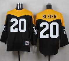 20 Men's Steelers Rocky Bleier 1967 Nfl Ness Stitched Jersey Black yelllow Throwback Mitchell And