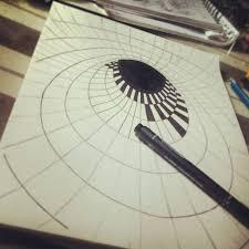 drawn 3d art optical illusion