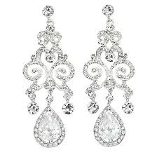 bridal vintage chandelier earrings dangle vintage cz earrings long chandelier earrings
