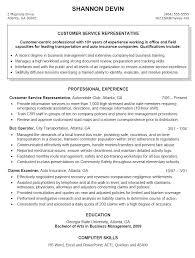 Sample Resumes For Customer Service Customer Service Resume