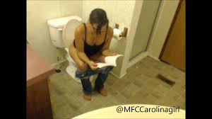 Girl pooping on toilet video