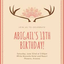 Free 18th Birthday Invitation Templates Awesome Customize 4848 488th Birthday Invitation Templates Online Canva
