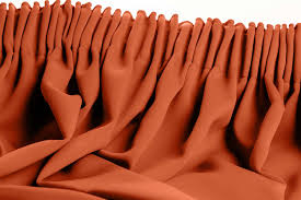 orange blackout curtain solid color rust mc374
