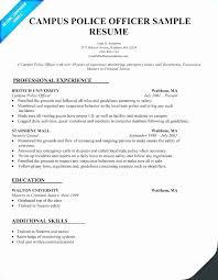 Reserve Officer Sample Resume Amazing Police Officer Sample Resume Objective Best Police Department