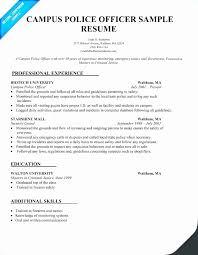 Reserve Officer Sample Resume Amazing Police Officer Sample Resume Objective Best Police Department